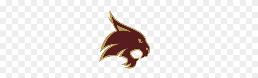 Texas State Bobcats Dave Campbell's Texas Football - Texas Shape PNG