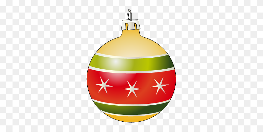 The Country Porch Features Christmas Ornaments For Holiday - Christmas Tree With Ornaments Clipart