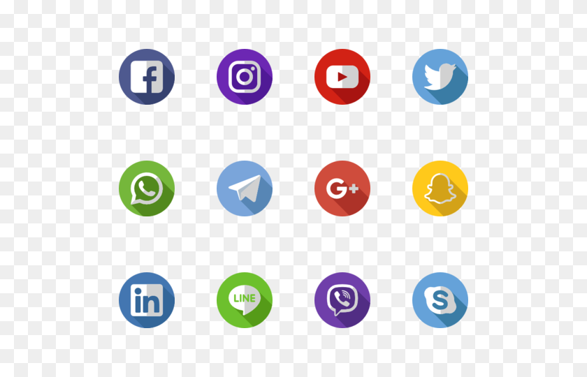 The Largest Database Of Free Vector Icons Icons Packs - Free Social Media Icons PNG