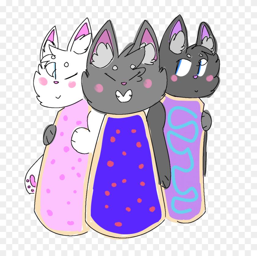 The Original Smol Pop Tart Cat Squad - Poptart PNG