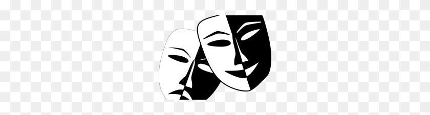 Theater Masks Clipart Clip Art Drama Masks Theater Masks Line Art - Theater Clipart