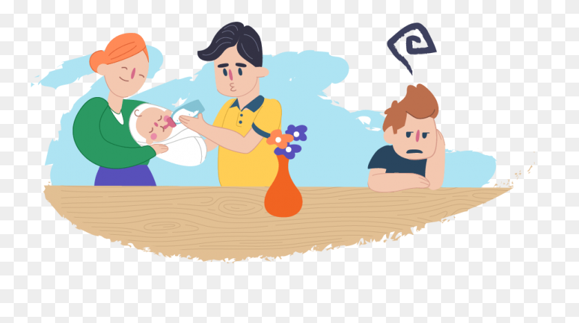 There's A New Member In My Family Kids Helpline - My Family Clipart