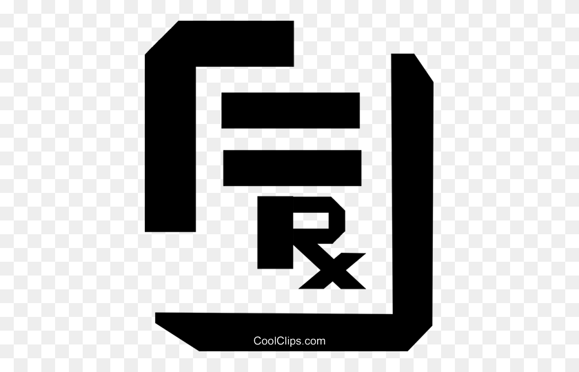 419x480 Thick Black Line Prescription Pad Royalty Free Vector Clip Art - Rx Clipart