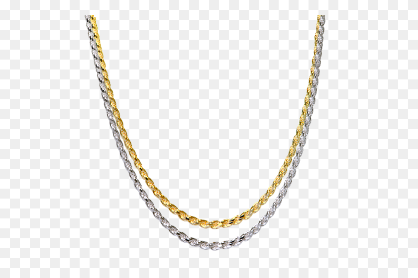 Thick Rope Chain Gold Filled Necklaces For Women Memorial Gallery - Silver Chain PNG