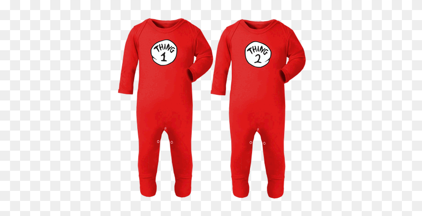 Thing Thing Footed Playsuitscostumes For Twins - Thing 1 And Thing 2 PNG