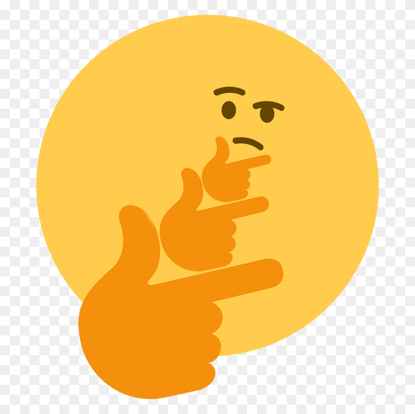 Thinkception Thinking Face Emoji Know Your Meme - Think