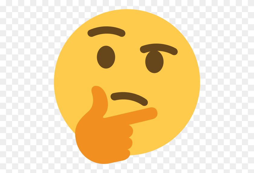 Thinking Face Emoji Thinking Emoji - Thinking Face Clipart