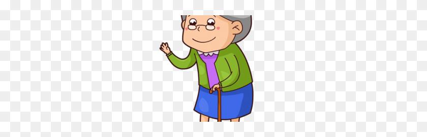296x210 This Cute Cartoon Grandma Clip - Grandmother Clipart