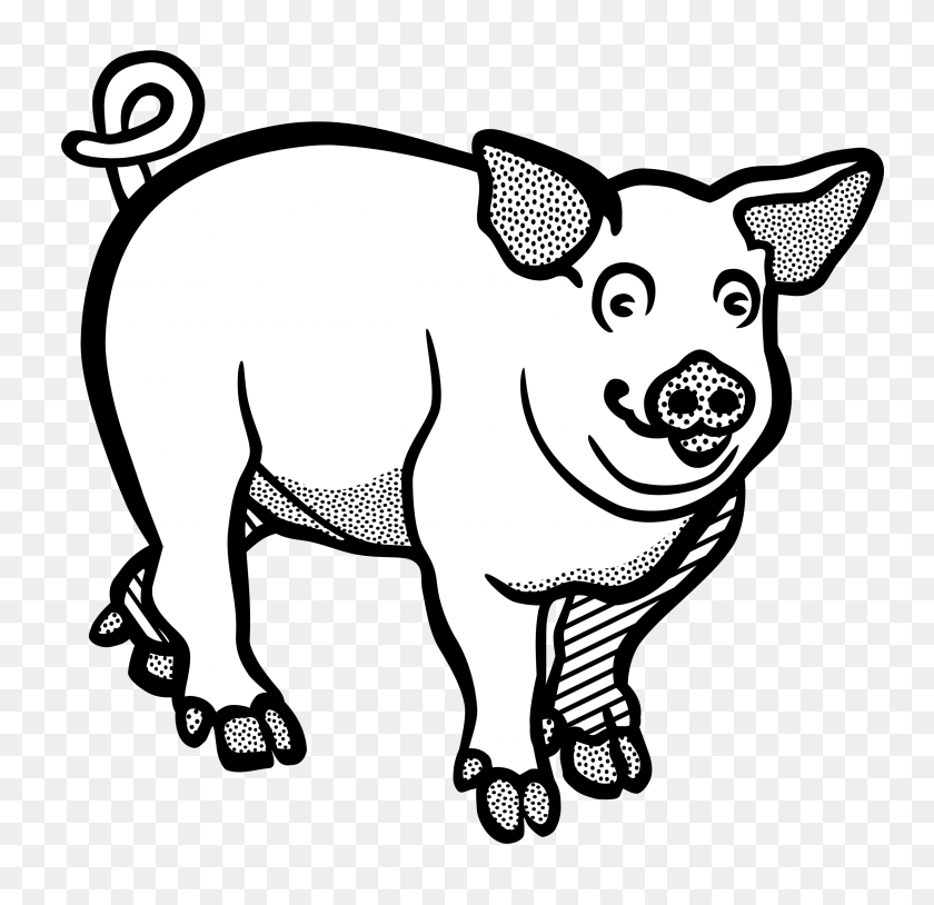 This Little Piggy Cute Pigs Clipart Of Pig Winging - Pig Pen Clipart