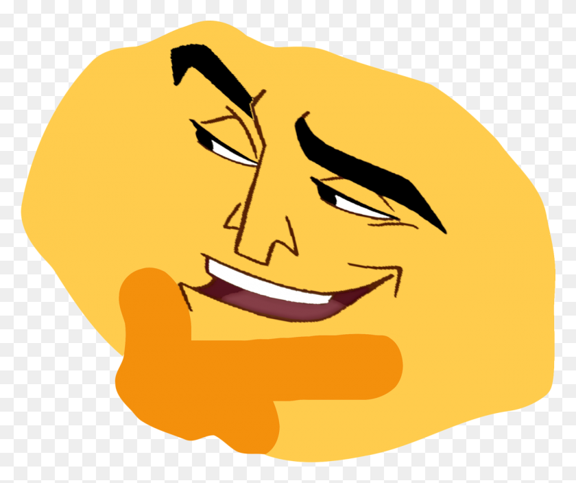 Thonk Emoji Transparent Memes Funnypictures Png - Thonking PNG