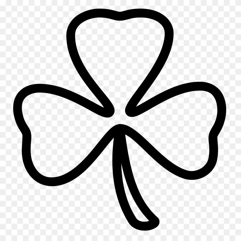 Three Leaf Clover - Four Leaf Clover Clip Art Black And White