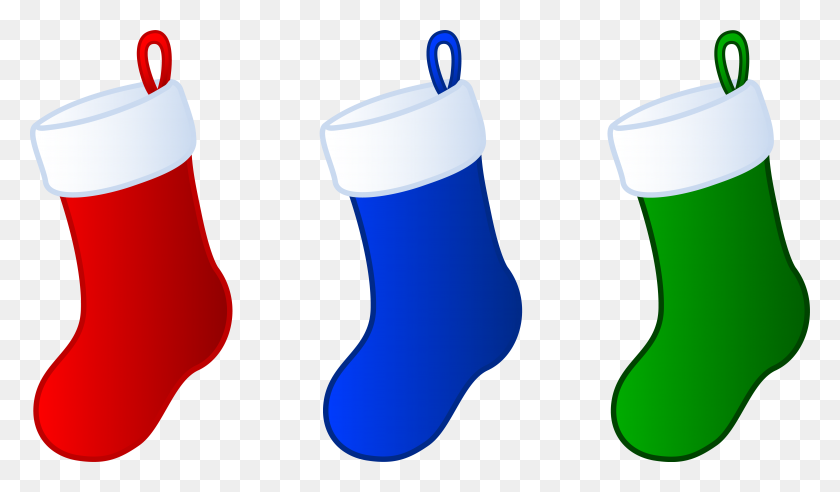 Three Simple Christmas Stockings - Simple Christmas Clipart