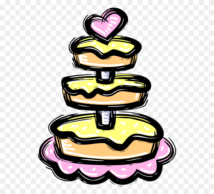 Three Tiered Wedding Cake - Tiered Cake Clipart
