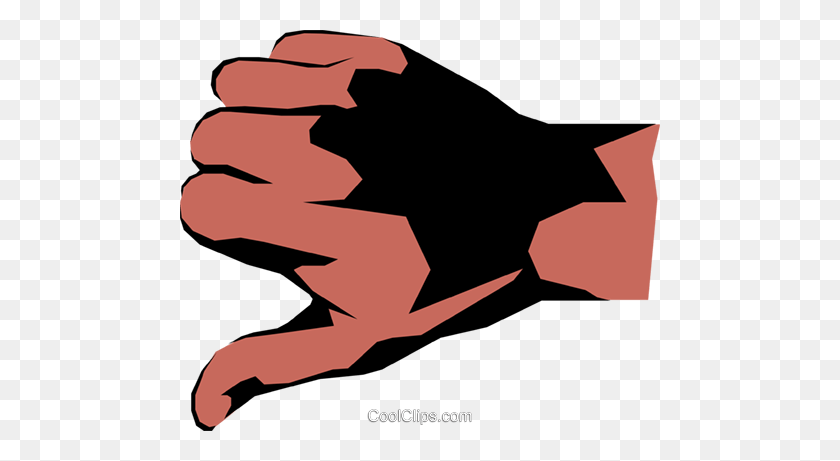 Thumbs Down Royalty Free Vector Clip Art Illustration - Thumbs Down Clipart