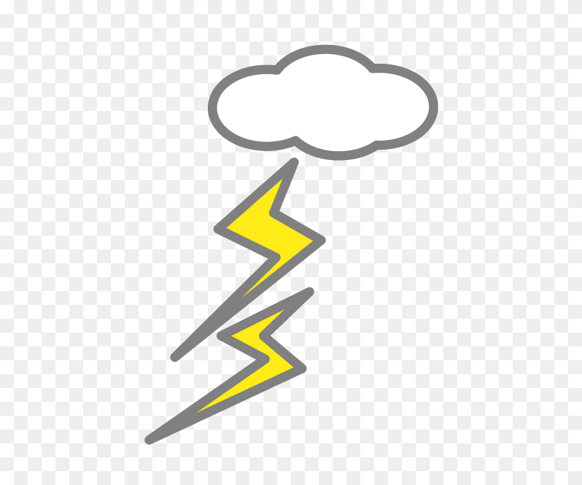 Thunder Thunderstorm Free Icon Free Clip Art Illustration - Thunderstorm Clipart
