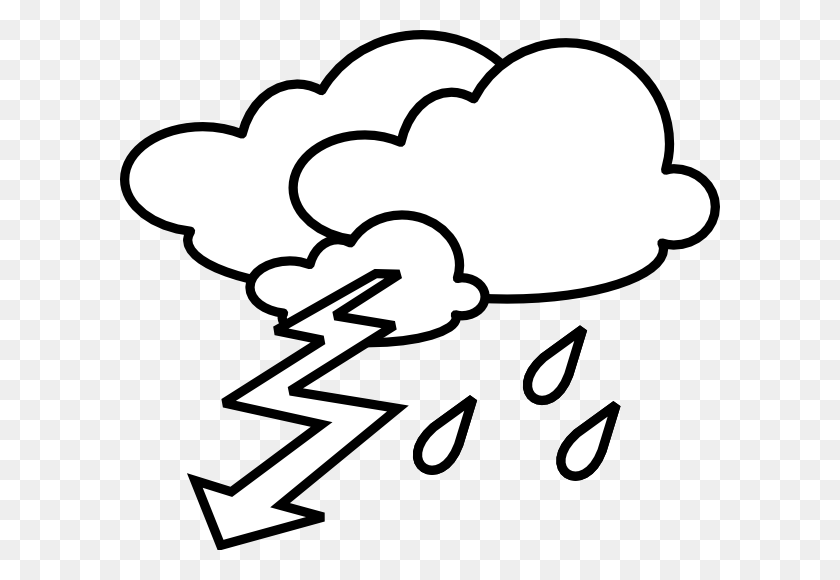 Thunderstorm Clip Art - Meteor Clipart Black And White