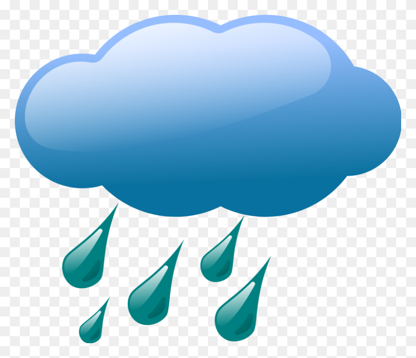 Thunderstorm Clipart Weather Symbol - Thunderstorm Clipart