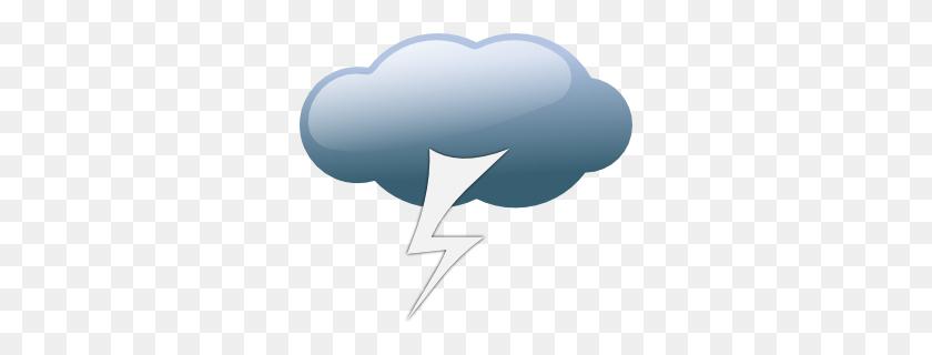 Thunderstorm Weather Symbols Clip Art Free Vector - Sleet Clipart