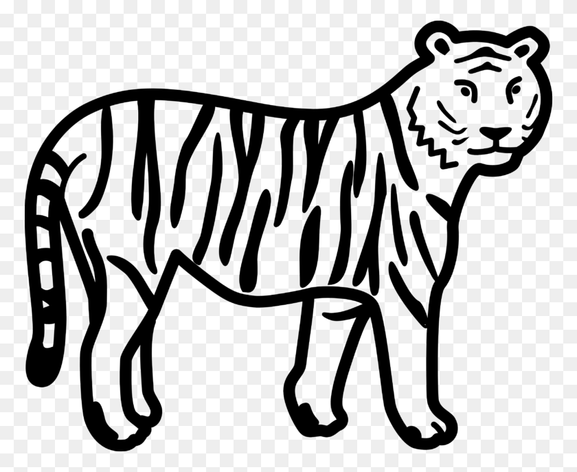 Tiger Black And White Tiger Face Clip Art Black And White Free - Tiger Clipart Face