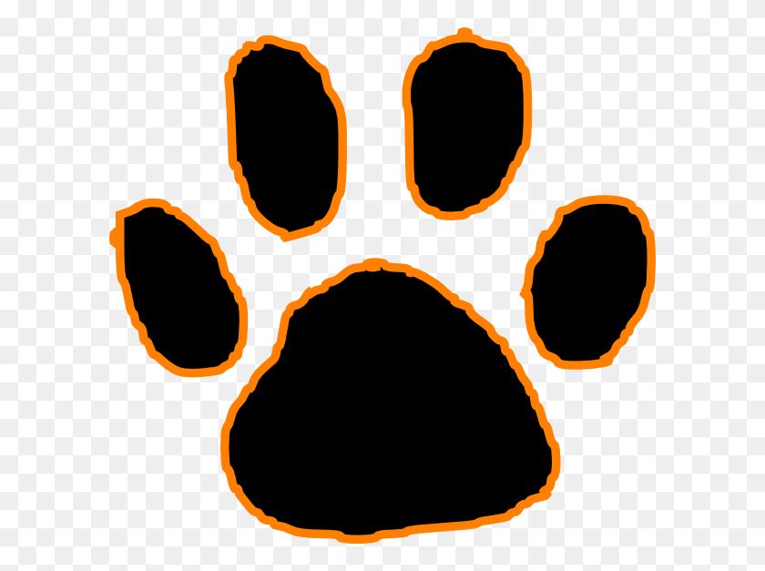 Tiger Paw Print Clip Art Look At Tiger Paw Print Clip Art Clip - Paw Clipart