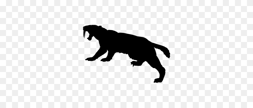 300x300 Tiger Stickers Car Decals Dozens Of Cool Designs - Saber Tooth Tiger Clipart