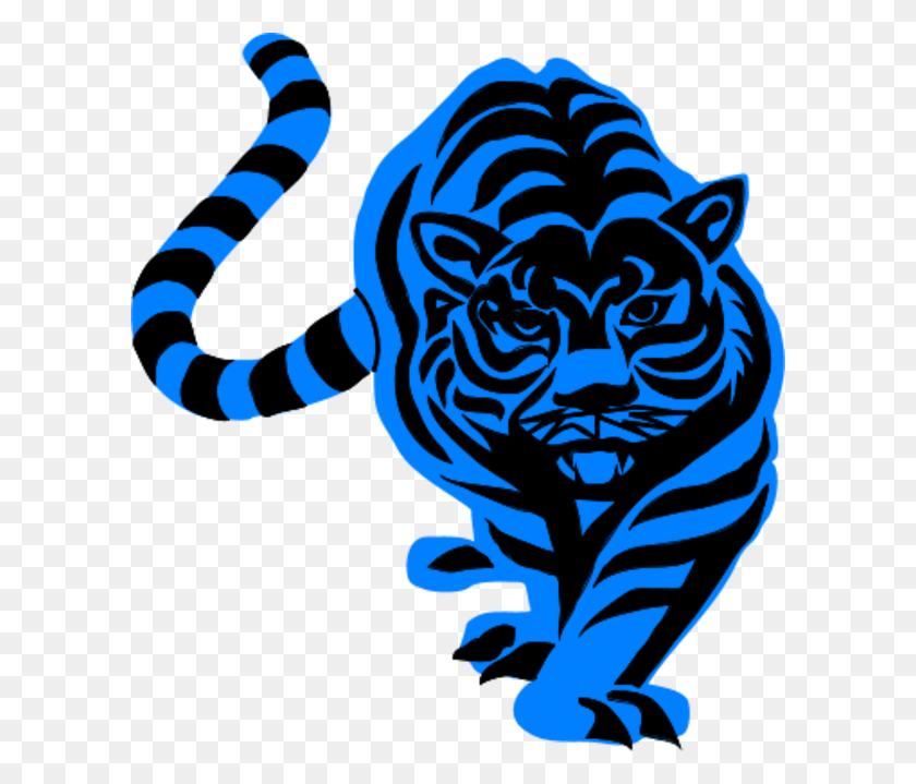 Tiiger Clipart Blue - Tiger Clipart PNG