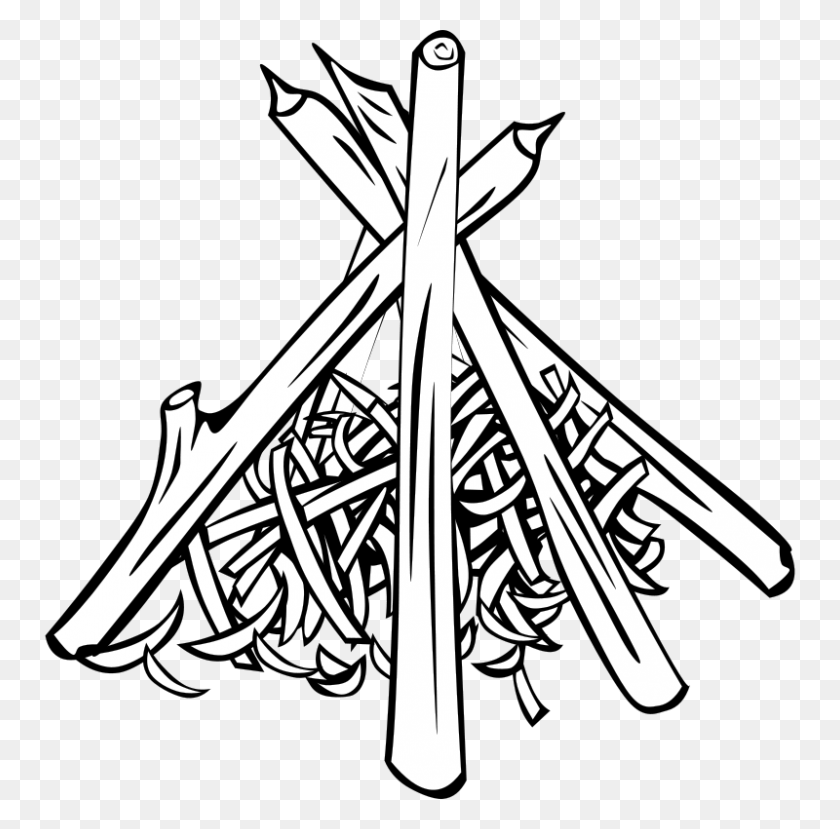 800x789 Tipi Campfire Native Americans In The United States Clip Art - Free Cookout Clipart