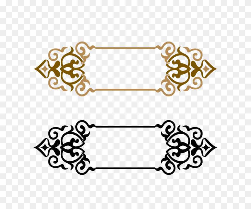 Title Border, Frame, Golden Frame, Border Frame Png And Vector - Vector Frame PNG