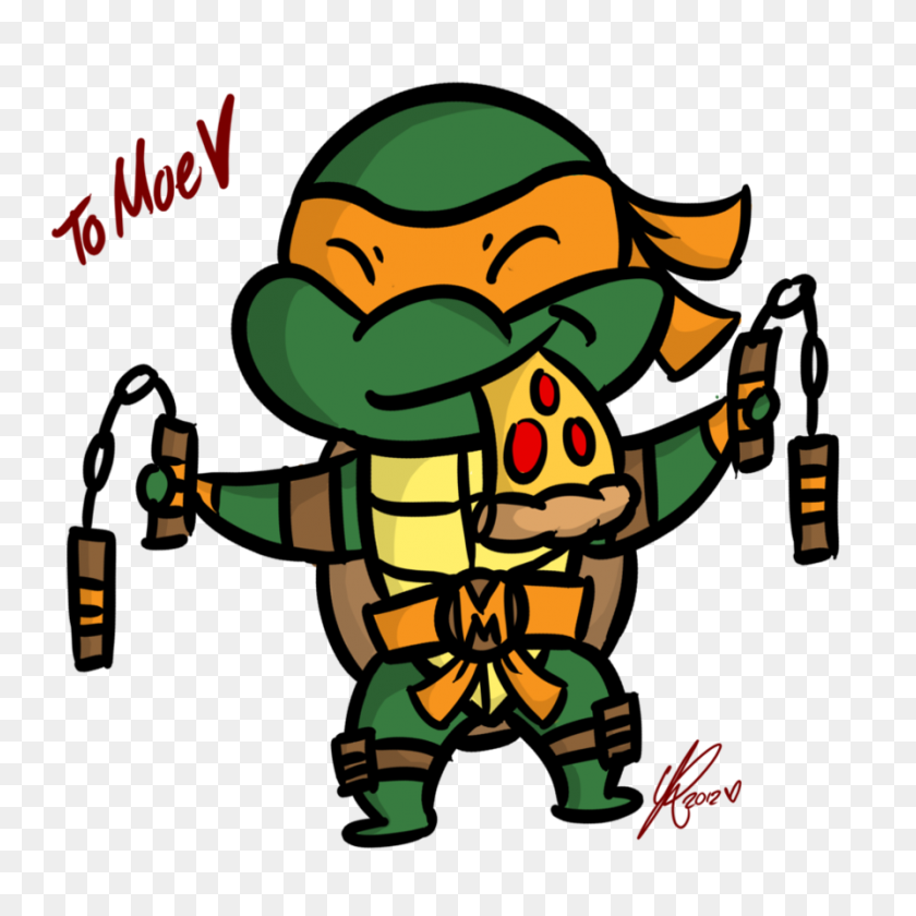 tmnt 2012 mikey png