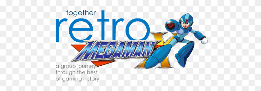 497x235 Together Retro Game Club Mega Man X - Mega Man X PNG