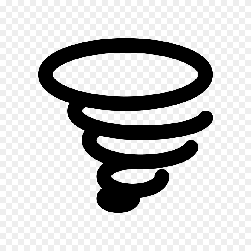 Tornado Icon - Tornado Clipart Black And White
