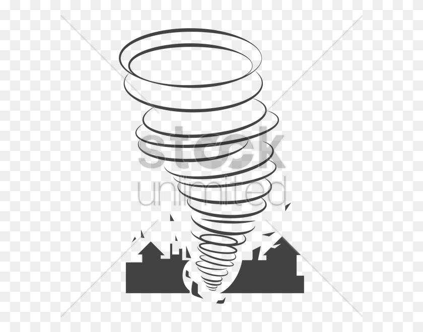 Tornado Vector Image - Tornado Clipart Black And White