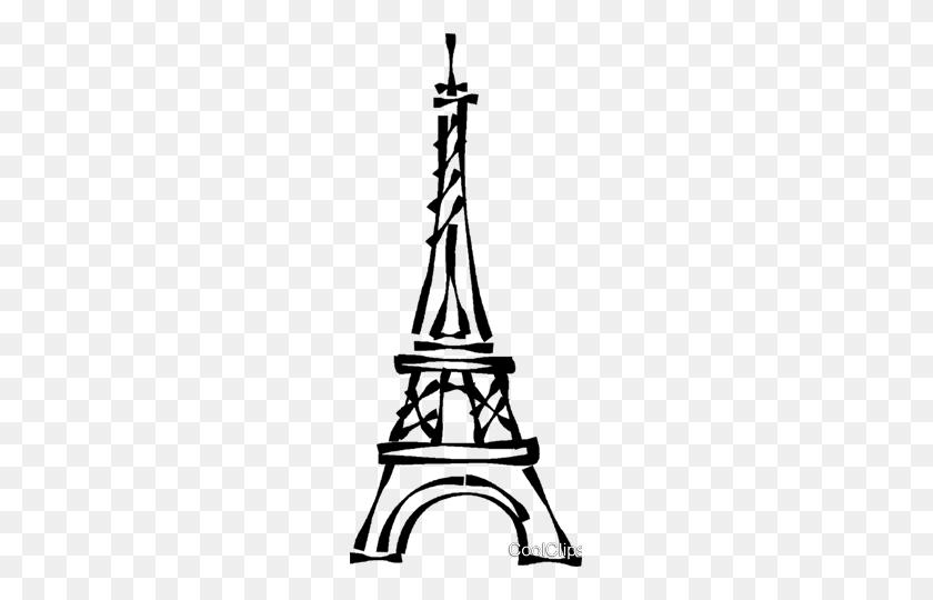 Torre Eiffel Livre De Direitos Vetores Clip Art - Tour Eiffel Clipart