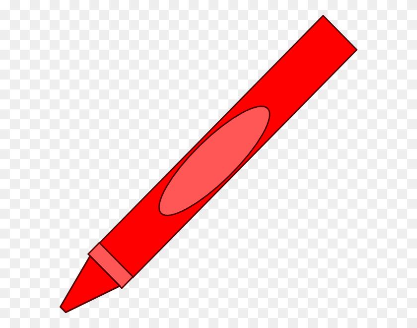 Totetude Red Crayon Clip Art - Red Crayon Clipart