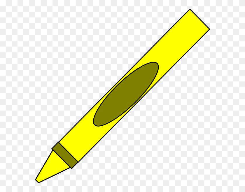 Totetude Yellow Crayon Clip Art - Red Crayon Clipart