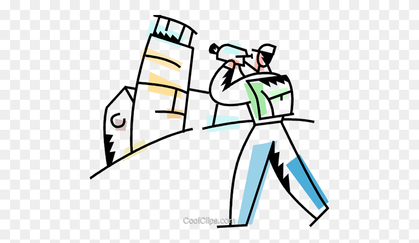 Tourist Filming The Leaning Tower Of Pisa Royalty Free Vector Clip - Tourist Clipart