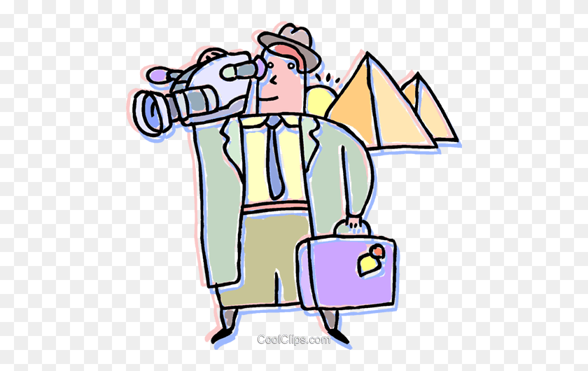 Tourist In Egypt Royalty Free Vector Clip Art Illustration - Tourist Clipart