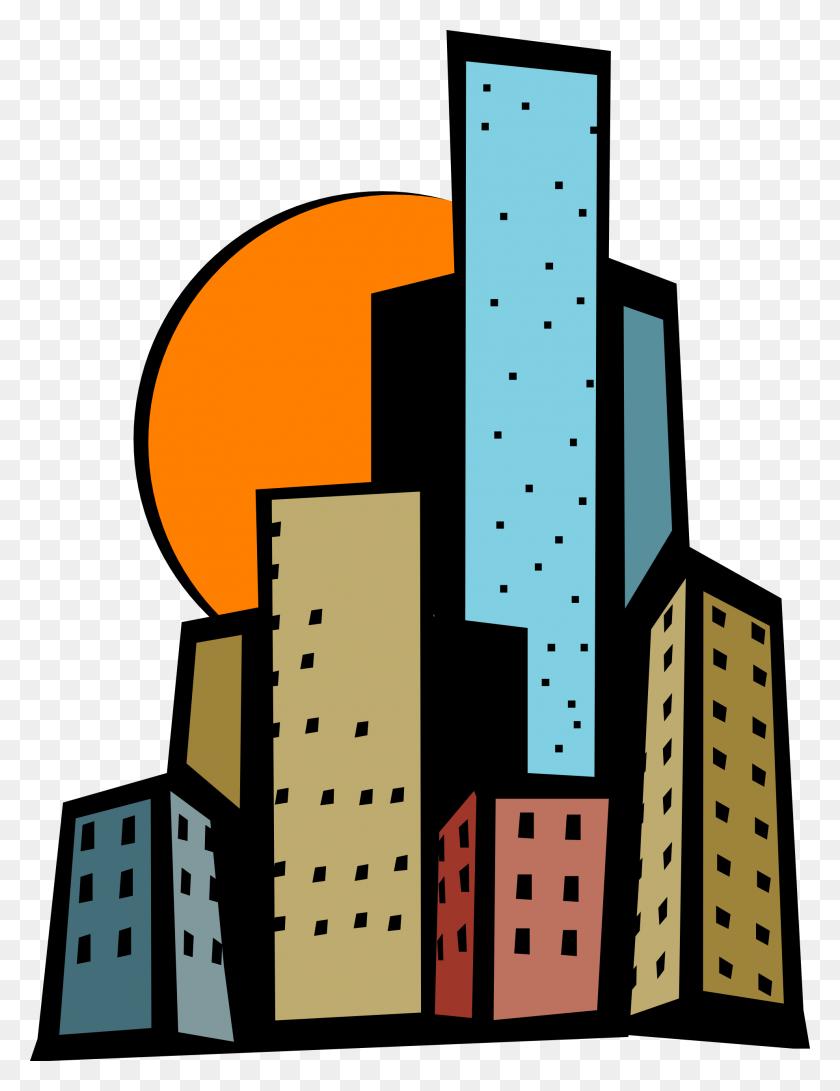 Tower Clipart Skyscraper - Block Center Clipart