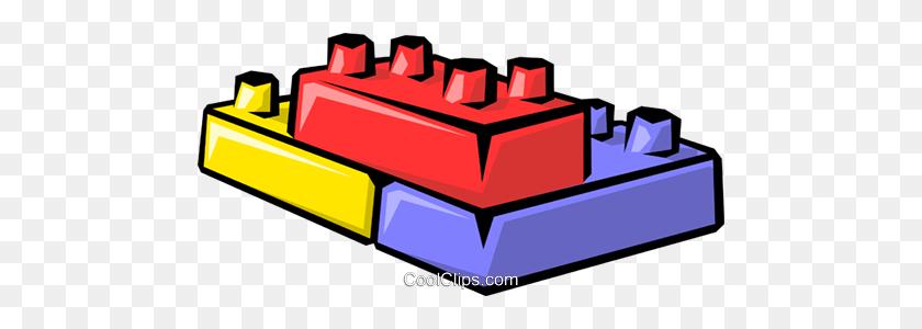 Toy Blocks Royalty Free Vector Clip Art Illustration - Toy Blocks Clipart