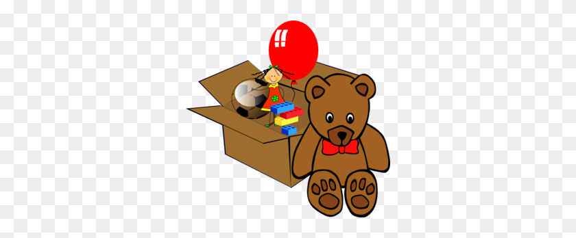 Teddy Bear Toy With Gift Box. Vector Clip Art. Royalty Free Cliparts,  Vectors, And Stock Illustration. Image 80903313.