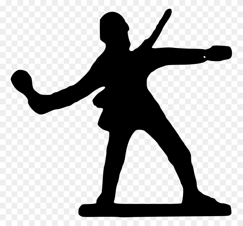 Toy Soldier Png Black And White Transparent Toy Soldier Black - Soldier Clipart Black And White