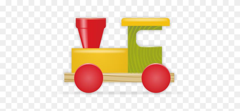 Toy Train - Block Center Clipart