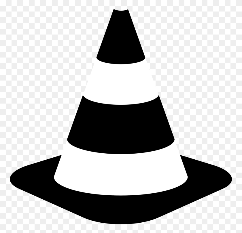Traffic Cone Computer Icons Road Traffic Safety - Safety Clipart Black And White