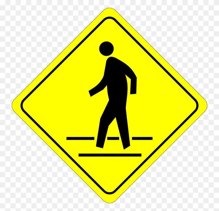 Traffic Sign Pedestrian Crossing Zebra Crossing - Winding Road Clipart