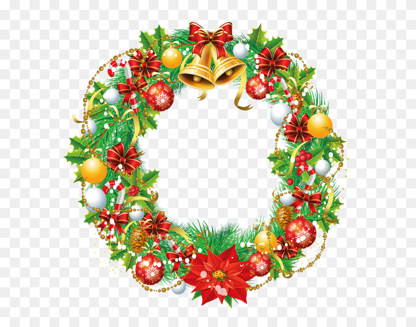 599x600 Transparent Christmas Wreath Png Clipart Gallery - Free Floral Wreath Clipart