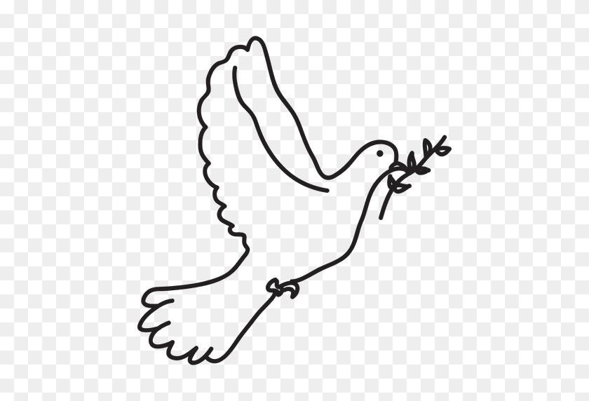 512x512 Transparent Dove Free Download On Unixtitan - Free Clipart Dove Of Peace