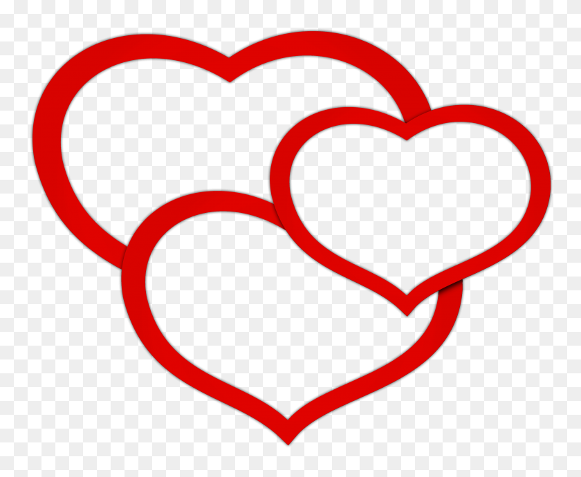 Transparent Red Triple Hearts Png Clipart Gallery - Heart Line PNG