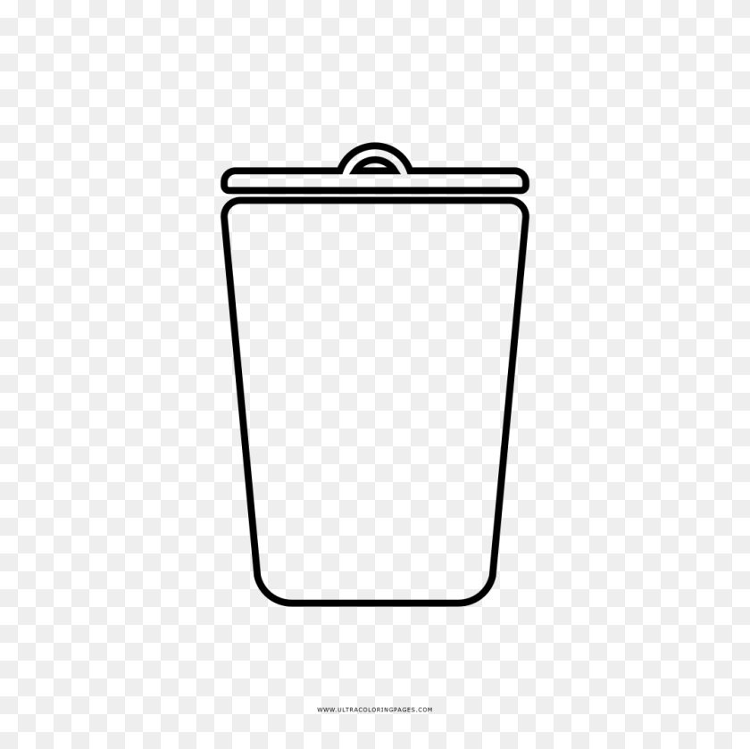 1000x1000 Trash Can Coloring Pages - Take Out The Trash Clipart