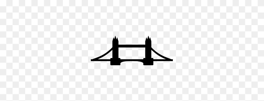 Travel Journal Graphics Silhouette, London - London Bridge Clipart