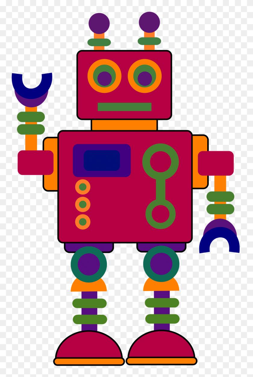 Treasures Robot Clipart - Multiplication Clipart